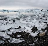 Icebergs at glacier lagoon Royalty Free Stock Photo