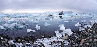 Icebergs at glacier lagoon Stock Images