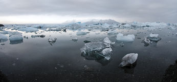 Icebergs at glacier lagoon Royalty Free Stock Images