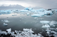 Icebergs at glacier lagoon Stock Photo