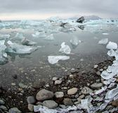 Icebergs at glacier lagoon in Iceland Royalty Free Stock Images