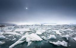 Icebergs at glacier lagoon Stock Image