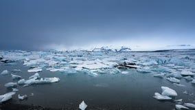 Icebergs at glacier lagoon Stock Photography