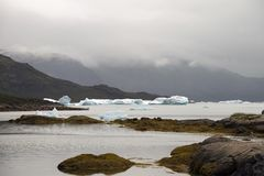 Icebergs in Greenland Stock Photo