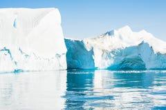 Icebergs in Greenland Stock Image