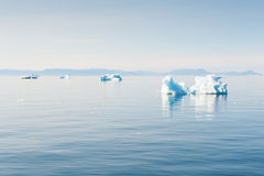 Icebergs in Greenland Royalty Free Stock Image