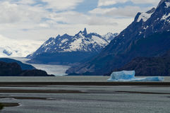 Icebergs on Grey Lake, Patagonia, Chile Royalty Free Stock Photos