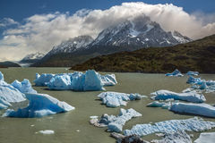 Icebergs in Grey Lake - Patagonia - Chile Stock Images