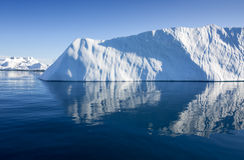 Icebergs. Huge icebergs.Travel on the scientific vessel among ices. Studying of a phenomenon of global warming. Importance of preservation of ecological balance royalty free stock images