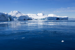 Icebergs. Huge icebergs.Travel on the scientific vessel among ices. Studying of a phenomenon of global warming. Importance of preservation of ecological balance royalty free stock photos