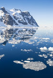 Icebergs. Huge icebergs.Travel on the scientific vessel among ices. Studying of a phenomenon of global warming. Importance of preservation of ecological balance stock images