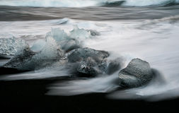 Icebergs in ice beach, Iceland Royalty Free Stock Photos