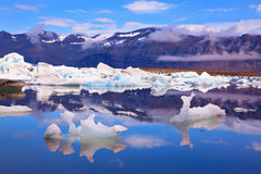 Icebergs and ice floes  of freakish forms Stock Photography