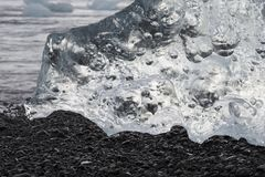 Icebergs-Ice, Ice formation, details of ice from Jokulsarlon Stock Image