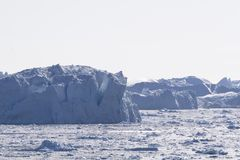 Icebergs at Ilulissat, Greenland Royalty Free Stock Photos