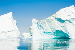 Icebergs in the Ilulissat icefjord, Greenland