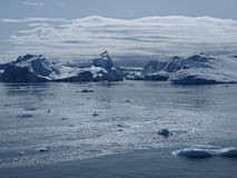 Icebergs Ilulissat south coast, Greenland. Icebergs at the mouth of Ilulissat Icefjord Stock Photography
