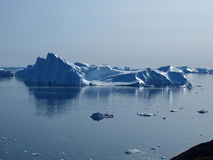 Icebergs Ilulissat south coast, Greenland. Royalty Free Stock Photos