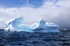 Icebergs In Errera Channel At Culverville Island, Antarctica Stock Images