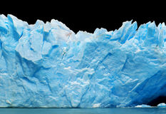Icebergs isolated on black Stock Photos
