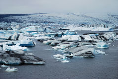 Icebergs Jokulsarlon de l'Islande Images stock