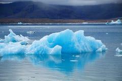 Icebergs on Jokulsarlon glacier lagoon, Iceland. Northern Europe royalty free stock images
