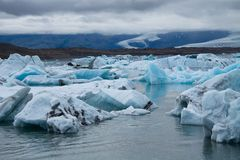 Icebergs on Jokulsarlon glacier lagoon, Iceland Royalty Free Stock Photo