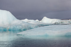 Icebergs in Jokulsarlon Glacier Lagoon, Iceland Royalty Free Stock Photography