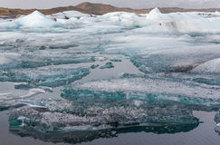 Icebergs in Jokulsarlon Glacier Lagoon, Iceland Royalty Free Stock Photo