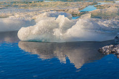 Icebergs in Jokulsarlon glacier lagoon, Iceland Stock Photo