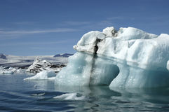 Icebergs in Jokulsarlon ice lagoon. Stock Images
