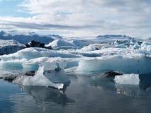Icebergs in Jokulsarlon, Iceland Royalty Free Stock Image