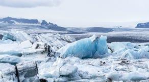 Icebergs in Jokulsarlon lagoon. Iceland royalty free stock image