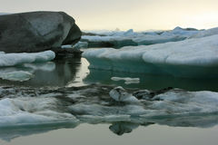 Icebergs in Jokulsarlon Lagoon, Iceland Royalty Free Stock Photos
