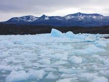 Icebergs - Lago Argentino, El Calafate. Icebergs in Lago Argentino, near a glacier Royalty Free Stock Photography