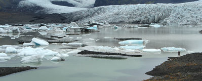 Icebergs in Lake. Lake with Icebergs royalty free stock photography