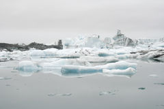 Icebergs in lake in Iceland Royalty Free Stock Photo