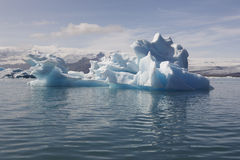 Icebergs and lake in Iceland Royalty Free Stock Photos