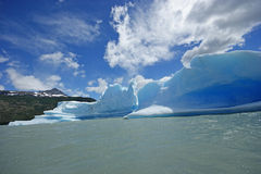 Icebergs in a lake in torres del paine Stock Image