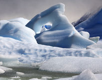 Icebergs - Largo Grey - Patagonia - Chile stock photos