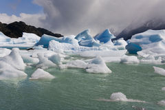 Icebergs - Largo Grey - Patagonia - Chile Stock Image