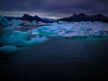 Icebergs and Mountains of Alaska, United States Stock Photography