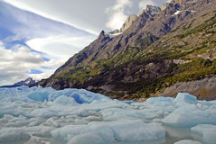 Icebergs and mountains in Patagonia, Argentina Stock Photo