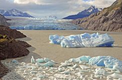 Icebergs and mountains in Patagonia, Argentina Stock Photography