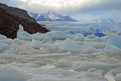 Icebergs and mountains in Patagonia, Argentina Stock Images