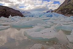 Icebergs and mountains in Patagonia, Argentina Royalty Free Stock Image