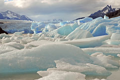 Icebergs and mountains in Patagonia, Argentina Stock Image