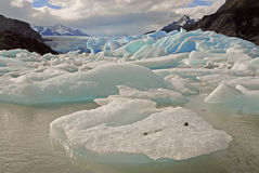 Icebergs and mountains in Patagonia, Argentina Royalty Free Stock Photography