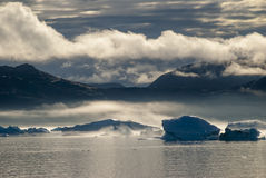 Icebergs in Narsuaq Royalty Free Stock Photos