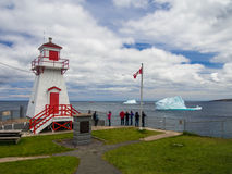 Icebergs near to St. John`s. ST. JOHN`S, NEWFOUNDLAND, CANADA - JUNE 2014 Royalty Free Stock Photos